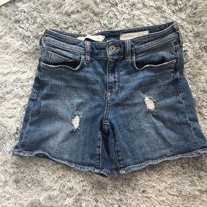 Anthropologie boyfriend distressed denim shorts